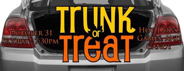 A fun, safe place for your kids to 'trick or treat'. Rain or Shine